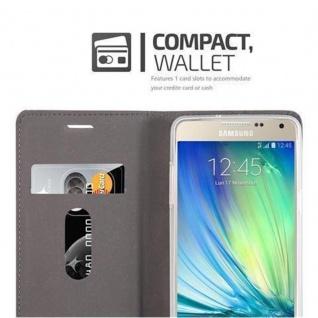 Cadorabo Hülle für Samsung Galaxy A5 2015 in GRAU SCHWARZ - Handyhülle mit Magnetverschluss, Standfunktion und Kartenfach - Case Cover Schutzhülle Etui Tasche Book Klapp Style - Vorschau 3