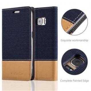 Cadorabo Hülle für Samsung Galaxy S7 in DUNKEL BLAU BRAUN - Handyhülle mit Magnetverschluss, Standfunktion und Kartenfach - Case Cover Schutzhülle Etui Tasche Book Klapp Style - Vorschau 2