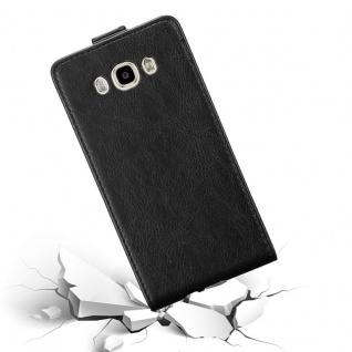 Cadorabo Hülle für Samsung Galaxy J7 2016 in NACHT SCHWARZ - Handyhülle im Flip Design mit unsichtbarem Magnetverschluss - Case Cover Schutzhülle Etui Tasche Book Klapp Style - Vorschau 4