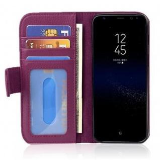 Cadorabo Hülle für Samsung Galaxy S8 in BORDEAUX LILA Handyhülle mit Magnetverschluss und 3 Kartenfächern Case Cover Schutzhülle Etui Tasche Book Klapp Style