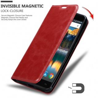 Cadorabo Hülle für Cubot MAX in APFEL ROT Handyhülle mit Magnetverschluss, Standfunktion und Kartenfach Case Cover Schutzhülle Etui Tasche Book Klapp Style - Vorschau 3