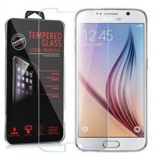 Cadorabo Panzer Folie für Samsung Galaxy S6 - Schutzfolie in KRISTALL KLAR - Gehärtetes (Tempered) Display-Schutzglas in 9H Härte mit 3D Touch Kompatibilität
