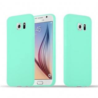 Cadorabo Hülle für Samsung Galaxy S6 in CANDY BLAU - Handyhülle aus flexiblem TPU Silikon - Silikonhülle Schutzhülle Ultra Slim Soft Back Cover Case Bumper