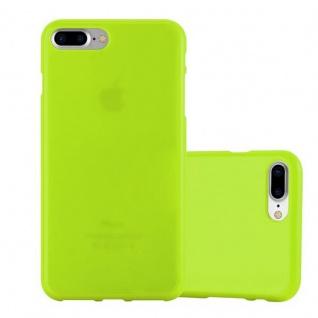 Cadorabo Hülle für Apple iPhone 8 PLUS / iPhone 7 PLUS / iPhone 7S PLUS in JELLY GRÜN ? Handyhülle aus flexiblem TPU Silikon ? Silikonhülle Schutzhülle Ultra Slim Soft Back Cover Case Bumper