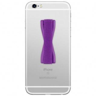 Cadorabo - Finger-Halterung Sling Grip für Smartphone / Tablet / iPod / eReader Griff Henkel Sling Schlaufe Riemen in LILA - Vorschau 2
