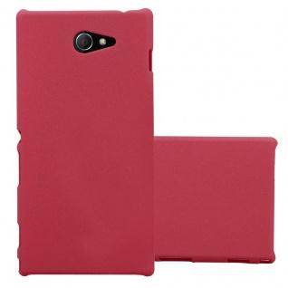 Cadorabo Hülle für Sony Xperia M2 / M2 Aqua in FROSTY ROT - Hardcase Handyhülle aus Plastik gegen Kratzer und Stöße - Schutzhülle Bumper Ultra Slim Back Case Hard Cover