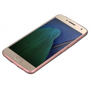 Cadorabo Hülle für Motorola MOTO G5 PLUS in METALL ROSÉ GOLD ? Hardcase Handyhülle aus Plastik gegen Kratzer und Stöße ? Schutzhülle Bumper Ultra Slim Back Case Hard Cover - Vorschau 3