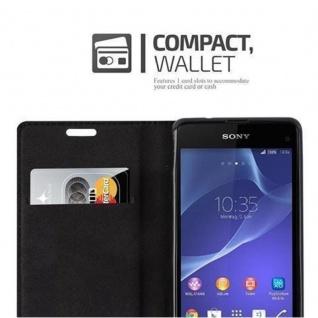 Cadorabo Hülle für Sony Xperia Z1 COMPACT in NACHT SCHWARZ - Handyhülle mit Magnetverschluss, Standfunktion und Kartenfach - Case Cover Schutzhülle Etui Tasche Book Klapp Style - Vorschau 3