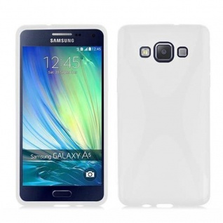Cadorabo Hülle für Samsung Galaxy A5 2015 in HALB TRANSPARENT - Handyhülle aus flexiblem TPU Silikon - Silikonhülle Schutzhülle Ultra Slim Soft Back Cover Case Bumper