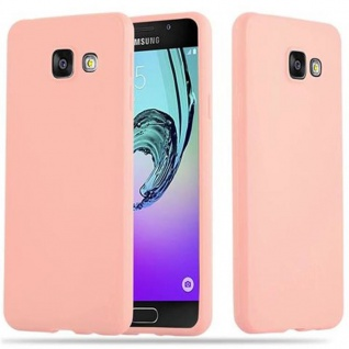 Cadorabo Hülle für Samsung Galaxy A5 2016 in CANDY ROSA - Handyhülle aus flexiblem TPU Silikon - Silikonhülle Schutzhülle Ultra Slim Soft Back Cover Case Bumper