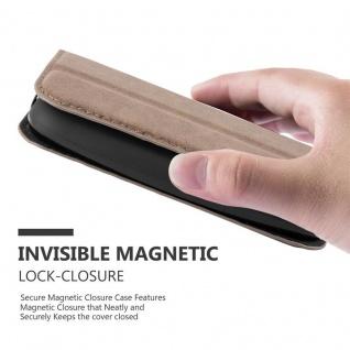 Cadorabo Hülle für Nokia 105 DUAL in KAFFEE BRAUN - Handyhülle mit Magnetverschluss, Standfunktion und Kartenfach - Case Cover Schutzhülle Etui Tasche Book Klapp Style - Vorschau 5