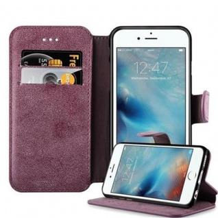 Cadorabo Hülle für Apple iPhone 6 / iPhone 6S - Hülle in MATT ROT - Handyhülle mit Standfunktion und Kartenfach im Retro Design - Case Cover Schutzhülle Etui Tasche Book Klapp Style