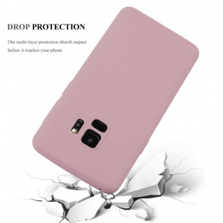 Cadorabo Hülle für Samsung Galaxy S9 in CANDY ROSA - Handyhülle aus flexiblem TPU Silikon - Silikonhülle Schutzhülle Ultra Slim Soft Back Cover Case Bumper - Vorschau 3