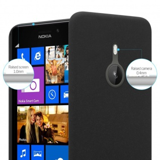 Cadorabo Hülle für Nokia Lumia 925 in FROSTY SCHWARZ - Hardcase Handyhülle aus Plastik gegen Kratzer und Stöße - Schutzhülle Bumper Ultra Slim Back Case Hard Cover - Vorschau 3