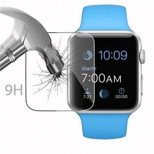 Cadorabo Panzer Folie für Apple Watch Series 1 & 2 38mm Schutzfolie in KRISTALL KLAR Gehärtetes (Tempered) Display-Schutzglas in 9H Härte mit 3D Touch Kompatibilität - Vorschau 3