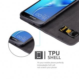 Cadorabo Hülle für Samsung Galaxy J3 / J3 DUOS 2016 in BLAU BRAUN ? Handyhülle mit Magnetverschluss, Standfunktion und Kartenfach ? Case Cover Schutzhülle Etui Tasche Book Klapp Style - Vorschau 2