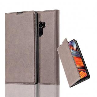 Cadorabo Hülle für Xiaomi Mi MIX 2 in KAFFEE BRAUN - Handyhülle mit Magnetverschluss, Standfunktion und Kartenfach - Case Cover Schutzhülle Etui Tasche Book Klapp Style