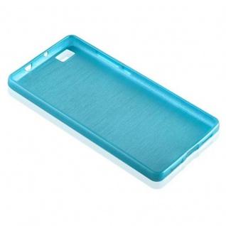 Cadorabo Hülle für Huawei P8 LITE 2015 in TÜRKIS - Handyhülle aus flexiblem TPU Silikon - Silikonhülle Schutzhülle Ultra Slim Soft Back Cover Case Bumper - Vorschau 3