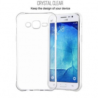 Cadorabo Hülle für Samsung Galaxy J5 2015 (5) - Hülle in KOMPLETT TRANSPARENT - Handyhülle aus TPU Silikon mit Schlaufe im Small Waist Design - Silikonhülle Schutzhülle Ultra Slim Soft Back Cover Case Bumper 3