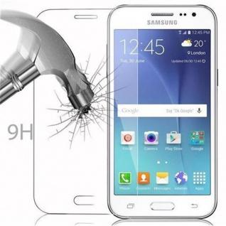Cadorabo Panzer Folie für Samsung Galaxy J2 - Schutzfolie in KRISTALL KLAR - Gehärtetes (Tempered) Display-Schutzglas in 9H Härte mit 3D Touch Kompatibilität - Vorschau 3