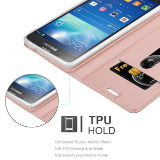 Cadorabo Hülle für Samsung Galaxy S4 Active in CLASSY ROSÉ GOLD - Handyhülle mit Magnetverschluss, Standfunktion und Kartenfach - Case Cover Schutzhülle Etui Tasche Book Klapp Style - Vorschau 4