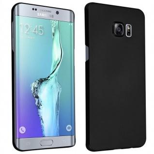 Cadorabo Hülle für Samsung Galaxy S6 EDGE PLUS in METALL SCHWARZ ? Hardcase Handyhülle aus Plastik gegen Kratzer und Stöße ? Schutzhülle Bumper Ultra Slim Back Case Hard Cover
