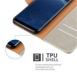 Cadorabo Hülle für Samsung Galaxy S8 PLUS in CAPPUCCINO BRAUN ? Handyhülle mit Magnetverschluss, Standfunktion und Kartenfach ? Case Cover Schutzhülle Etui Tasche Book Klapp Style - Vorschau 3