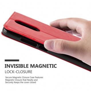 Cadorabo Hülle für WIKO UPULSE in APFEL ROT Handyhülle mit Magnetverschluss, Standfunktion und Kartenfach Case Cover Schutzhülle Etui Tasche Book Klapp Style - Vorschau 5