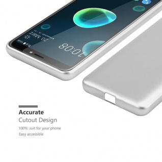 Cadorabo Hülle für HTC Desire 12 PLUS in METALLIC SILBER - Handyhülle aus flexiblem TPU Silikon - Silikonhülle Schutzhülle Ultra Slim Soft Back Cover Case Bumper - Vorschau 5