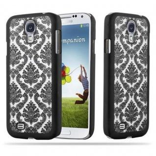 Samsung Galaxy S4 Hardcase Hülle in SCHWARZ von Cadorabo - Blumen Paisley Henna Design Schutzhülle ? Handyhülle Bumper Back Case Cover