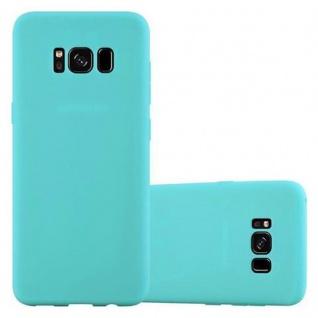 Cadorabo Hülle für Samsung Galaxy S8 PLUS - Hülle in CANDY BLAU ? Handyhülle aus TPU Silikon im Candy Design - Ultra Slim Soft Backcover Case Bumper