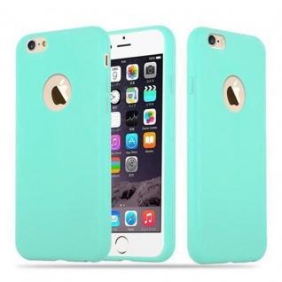 Cadorabo Hülle für Apple iPhone 6 PLUS / iPhone 6S PLUS - Hülle in CANDY BLAU ? Handyhülle aus TPU Silikon im Candy Design - Ultra Slim Soft Backcover Case Bumper
