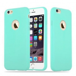 Cadorabo Hülle für Apple iPhone 6 PLUS / iPhone 6S PLUS in CANDY BLAU Handyhülle aus flexiblem TPU Silikon Silikonhülle Schutzhülle Ultra Slim Soft Back Cover Case Bumper