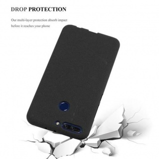 Cadorabo Hülle für Honor 8 PRO in FROST SCHWARZ - Handyhülle aus flexiblem TPU Silikon - Silikonhülle Schutzhülle Ultra Slim Soft Back Cover Case Bumper - Vorschau 4