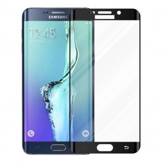 Cadorabo Vollbild Panzer Folie für Samsung Galaxy S6 EDGE - Schutzfolie in TRANSPARENT mit SCHWARZ - Gehärtetes (Tempered) Display-Schutzglas in 9H Härte mit 3D Touch Kompatibilität - Vorschau 2