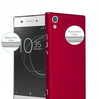 Cadorabo Hülle für Sony Xperia XA1 in METALL ROT - Hardcase Handyhülle aus Plastik gegen Kratzer und Stöße - Schutzhülle Bumper Ultra Slim Back Case Hard Cover - Vorschau 2
