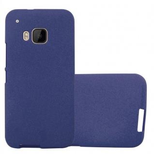 Cadorabo Hülle für HTC ONE M9 in FROST DUNKEL BLAU - Handyhülle aus flexiblem TPU Silikon - Silikonhülle Schutzhülle Ultra Slim Soft Back Cover Case Bumper