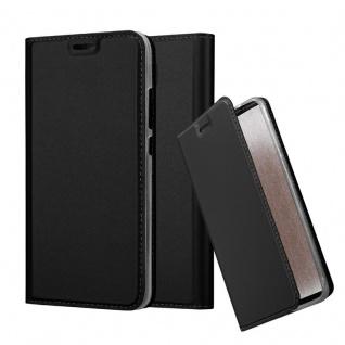 Cadorabo Hülle für Honor 5C in CLASSY SCHWARZ - Handyhülle mit Magnetverschluss, Standfunktion und Kartenfach - Case Cover Schutzhülle Etui Tasche Book Klapp Style
