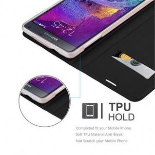 Cadorabo Hülle für Samsung Galaxy NOTE 4 in CLASSY SCHWARZ - Handyhülle mit Magnetverschluss, Standfunktion und Kartenfach - Case Cover Schutzhülle Etui Tasche Book Klapp Style - Vorschau 2