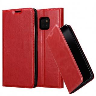 Cadorabo Hülle für Huawei MATE 20 PRO in APFEL ROT - Handyhülle mit Magnetverschluss, Standfunktion und Kartenfach - Case Cover Schutzhülle Etui Tasche Book Klapp Style