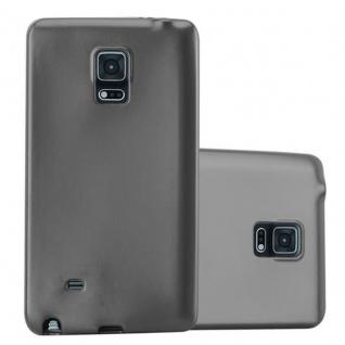 Cadorabo Hülle für Samsung Galaxy NOTE EDGE in METALLIC GRAU - Handyhülle aus flexiblem TPU Silikon - Silikonhülle Schutzhülle Ultra Slim Soft Back Cover Case Bumper