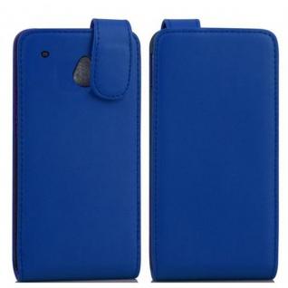 Cadorabo Hülle für HTC ONE MINI M4 in BRILLIANT BLAU - Handyhülle im Flip Design aus glattem Kunstleder - Case Cover Schutzhülle Etui Tasche Book Klapp Style - Vorschau 2