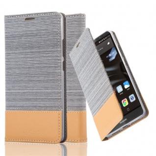Cadorabo Hülle für Huawei MATE 8 in HELL GRAU BRAUN - Handyhülle mit Magnetverschluss, Standfunktion und Kartenfach - Case Cover Schutzhülle Etui Tasche Book Klapp Style