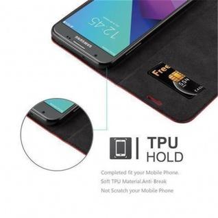 Cadorabo Hülle für Samsung Galaxy J3 2017 US Version in APFEL ROT - Handyhülle mit Magnetverschluss, Standfunktion und Kartenfach - Case Cover Schutzhülle Etui Tasche Book Klapp Style - Vorschau 3