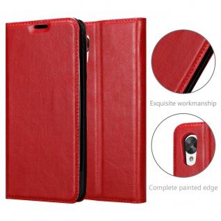 Cadorabo Hülle für LG NEXUS 5 in APFEL ROT Handyhülle mit Magnetverschluss, Standfunktion und Kartenfach Case Cover Schutzhülle Etui Tasche Book Klapp Style - Vorschau 5