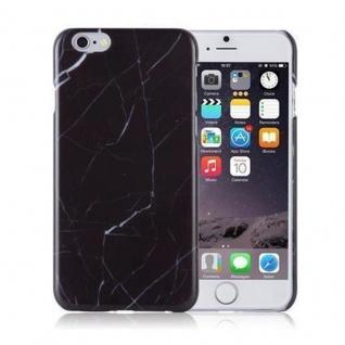 Cadorabo Hülle für Apple iPhone 6 / iPhone 6S - Hülle in SCHWARZ WEIß ? Hardcase Handyhülle im Marmor Muster - Schutzhülle Bumper Back Case Cover