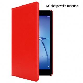 """"""" Cadorabo Tablet Hülle für Huawei MediaPad T3 8 (8, 0"""" Zoll) in MOHN ROT ? Book Style Schutzhülle OHNE Auto Wake Up mit Standfunktion und Gummiband Verschluss"""" - Vorschau 2"""