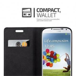 Cadorabo Hülle für Samsung Galaxy S4 in APFEL ROT - Handyhülle mit Magnetverschluss, Standfunktion und Kartenfach - Case Cover Schutzhülle Etui Tasche Book Klapp Style - Vorschau 3