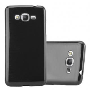 Cadorabo Hülle für Samsung Galaxy GRAND PRIME in SCHWARZ - Handyhülle aus flexiblem TPU Silikon - Silikonhülle Schutzhülle Ultra Slim Soft Back Cover Case Bumper