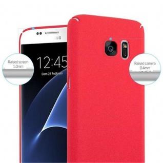 Cadorabo Hülle für Samsung Galaxy S7 in FROSTY ROT - Hardcase Handyhülle aus Plastik gegen Kratzer und Stöße - Schutzhülle Bumper Ultra Slim Back Case Hard Cover - Vorschau 5